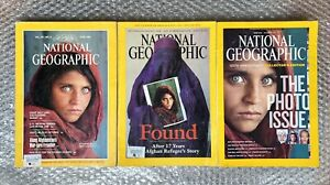 Afghan Girl National Geographic (3 back issues)