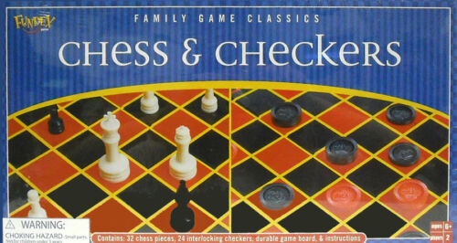FUNDEX:  CASE OF 12 CHESS & CHECKERS GAME COMBO - NEW      #ZFUN-2612