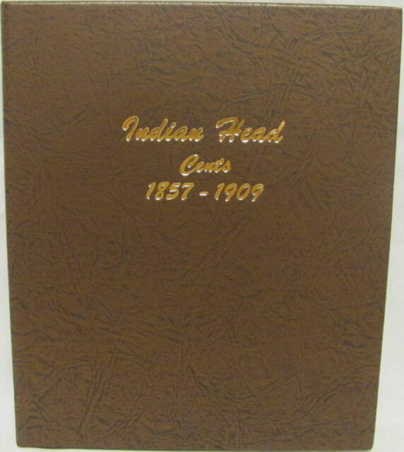 INDIAN HEAD CENT DANSCO ALBUMS #7101-1857 to 1909 NO COINS