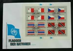 [SJ] United Nations Malta Czechoskovaki Thailand Trinidad Tobago Flag 1981 (FDC