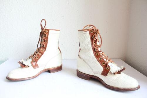 multicolor in Eu vera Boots us 5 Stivaletti pelle B Western Made Usa In 36 Justin wYTpqf1
