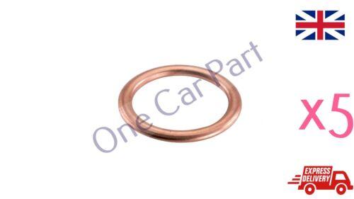 5 x M22 Copper Compression Washers Metric Oil Drain Plug Hollow Crush Washer