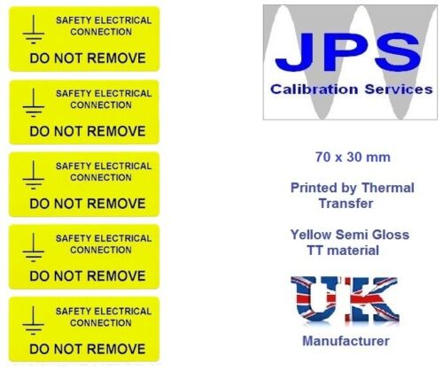 Etichetta elettrici-Avvertenza cautela pericolo Periodici RCD ispezionare TENSIONE GIALLO p9