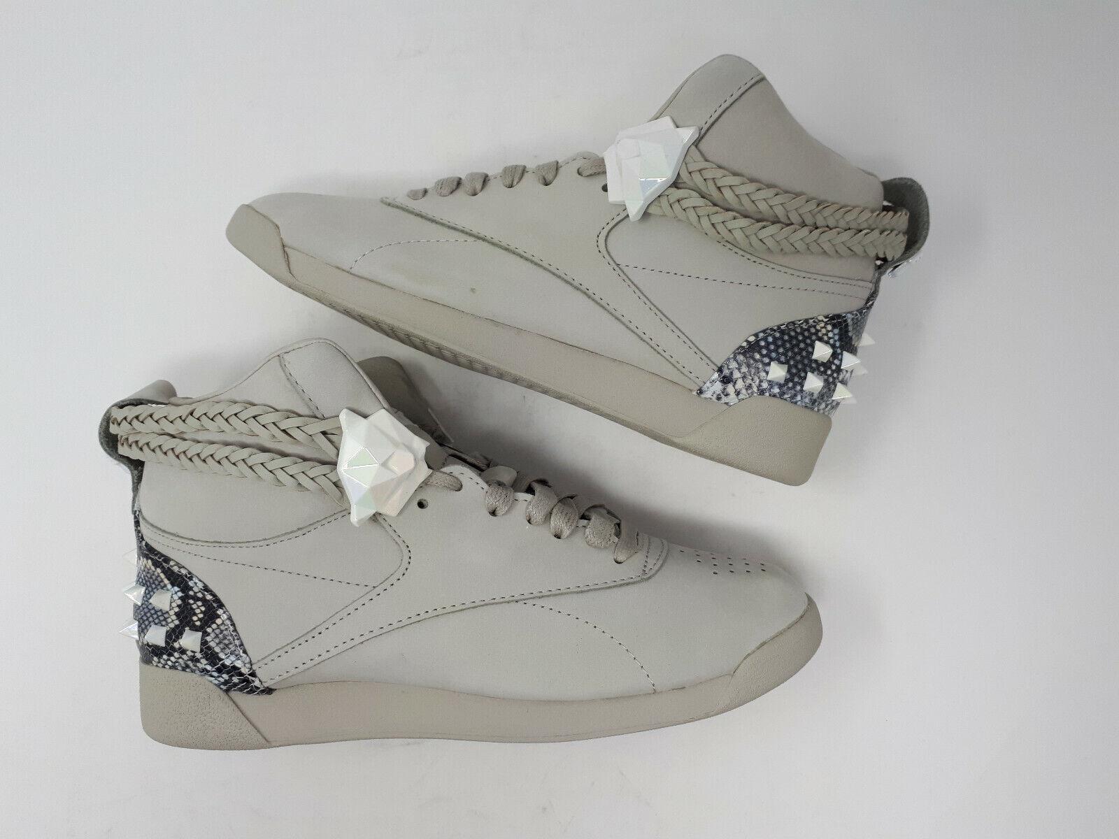 Nouveau Reebok Wonder Woman Freestyle Hi Chaussures Sneaker FW4658 Gris Pour Femme Chaussures Taille 7