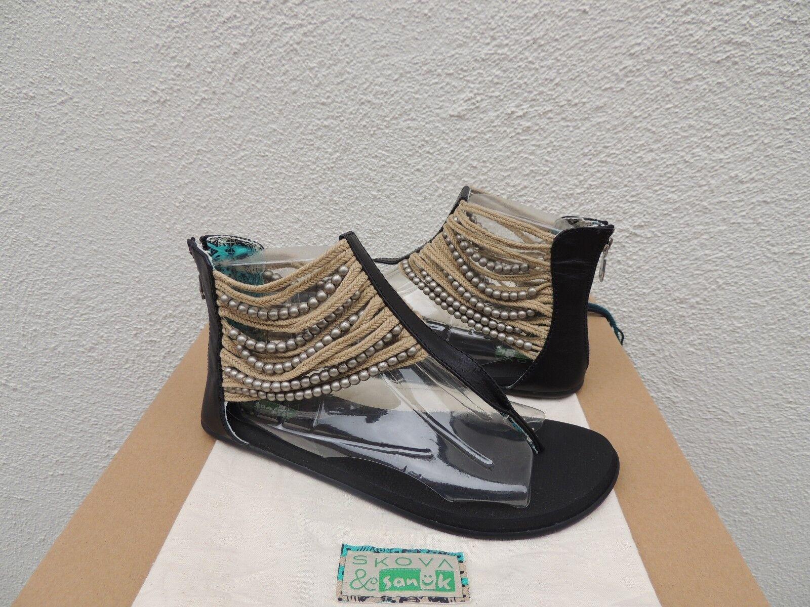 Sanuk & skova skova skova Negro Con Cuentas Sandalias Gladiador marroquí, tamaño nos 7 38 euros  Nuevo con etiquetas  Los mejores precios y los estilos más frescos.