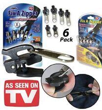 Fix à Zipper - vu à la TV - Kit de 6 zippers réparation fermeture éclair Marron