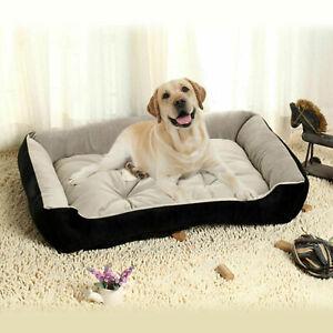 Dog-Bed-Soft-Big-Fleece-Beds-Waterproof-Pet-Cat-Basket-Winter-Warm-Mat-Nest-Neu
