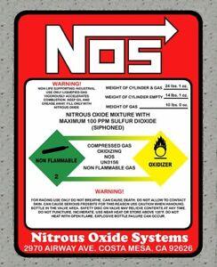 GéNéReuse Nitrous Oxide Nos Oxyde Drift Turbo Essence Jdm Autocollant Sticker 80mmx60mm Diversifié Dans L'Emballage