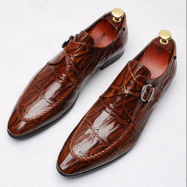 O British Mew Pattern Uomo Real Pelle Carved Formal Pointy Toe Wedding ef3ee