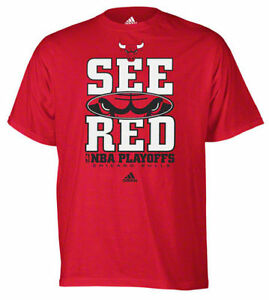 chicago bulls 2015 nba playoffs see red slogan t shirt. Black Bedroom Furniture Sets. Home Design Ideas