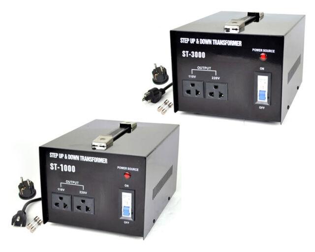 SUPERITE 1000 + 3000 Watt Voltage Converter Transformer AC 110/220 volt