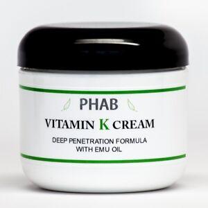 Vitamin K Cream - Thread Spider Varicose Veins Scars Rosacea Capillaries - 8oz