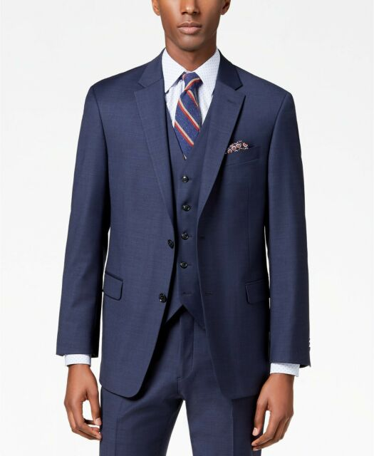Tommy Hilfiger 2 Button Blue 100/% Cotton Sport Coat Jacket Blazer 40R
