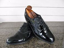 Peal & Co. Brooks Brothers Sz 9 D Black Patent Tuxedo Shoes Made England $398