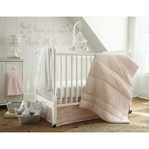 Image Is Loading Levtex Baby Ely Pink 5 Piece Crib