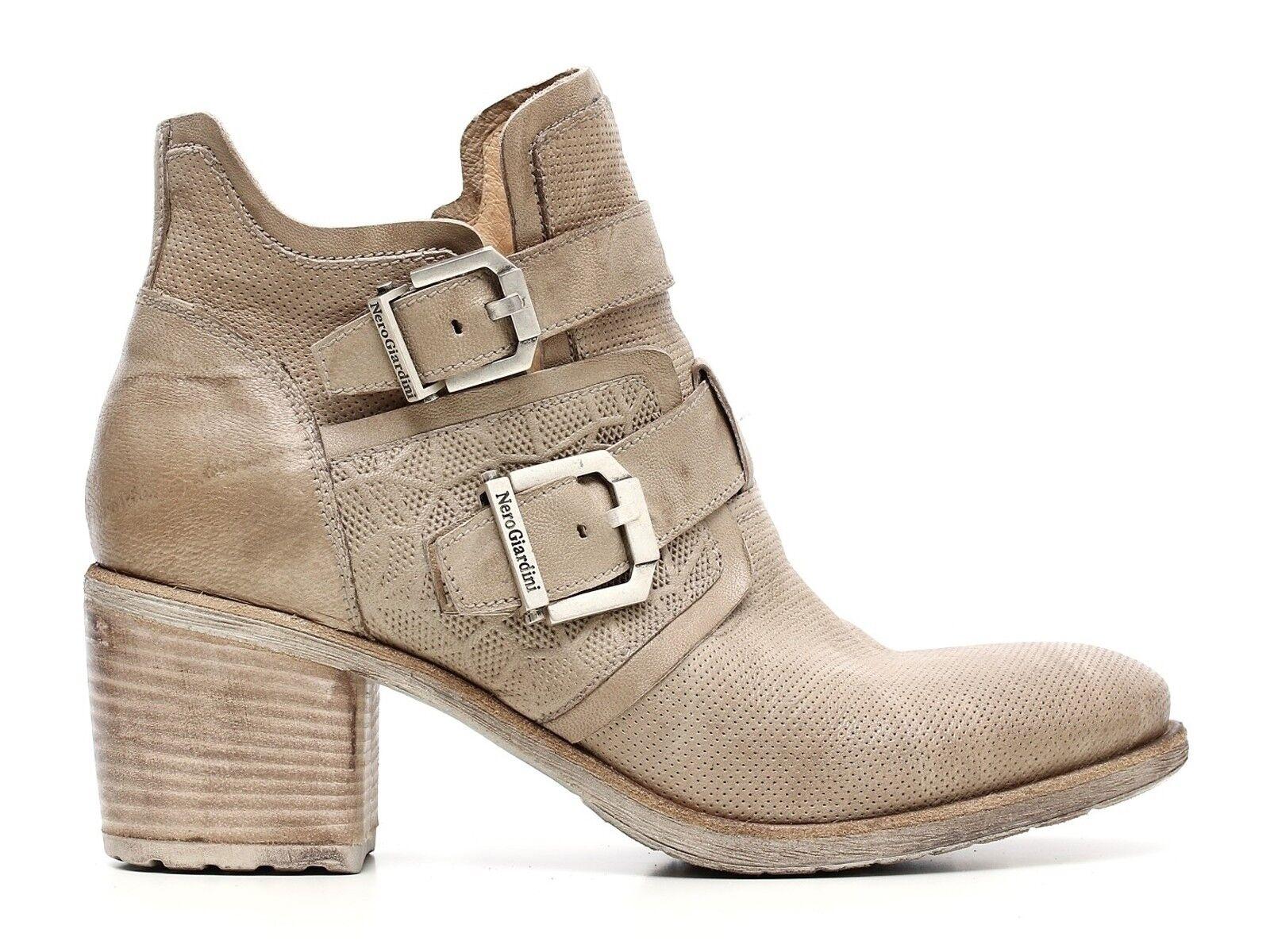 Grandes zapatos con descuento SCARPE DONNA NERO GIARDINI ESTATE P717151D 439  TRONCHETTI CHAMPAGNE