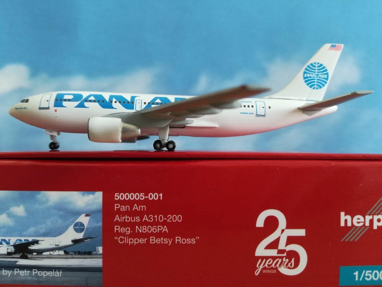 500920-001  Pan Am A310-200 - 25 YEARS Herpa Wings Edition - N806PA   | Günstige