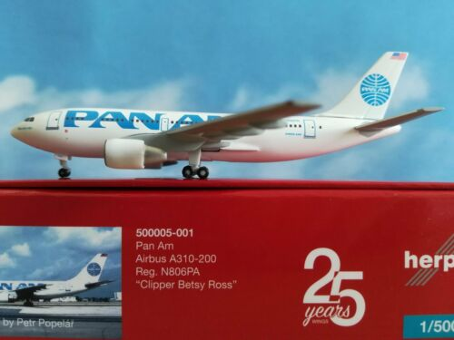 500920-001  Pan Am A310-200 N806PA * 25 YEARS Herpa Wings Edition