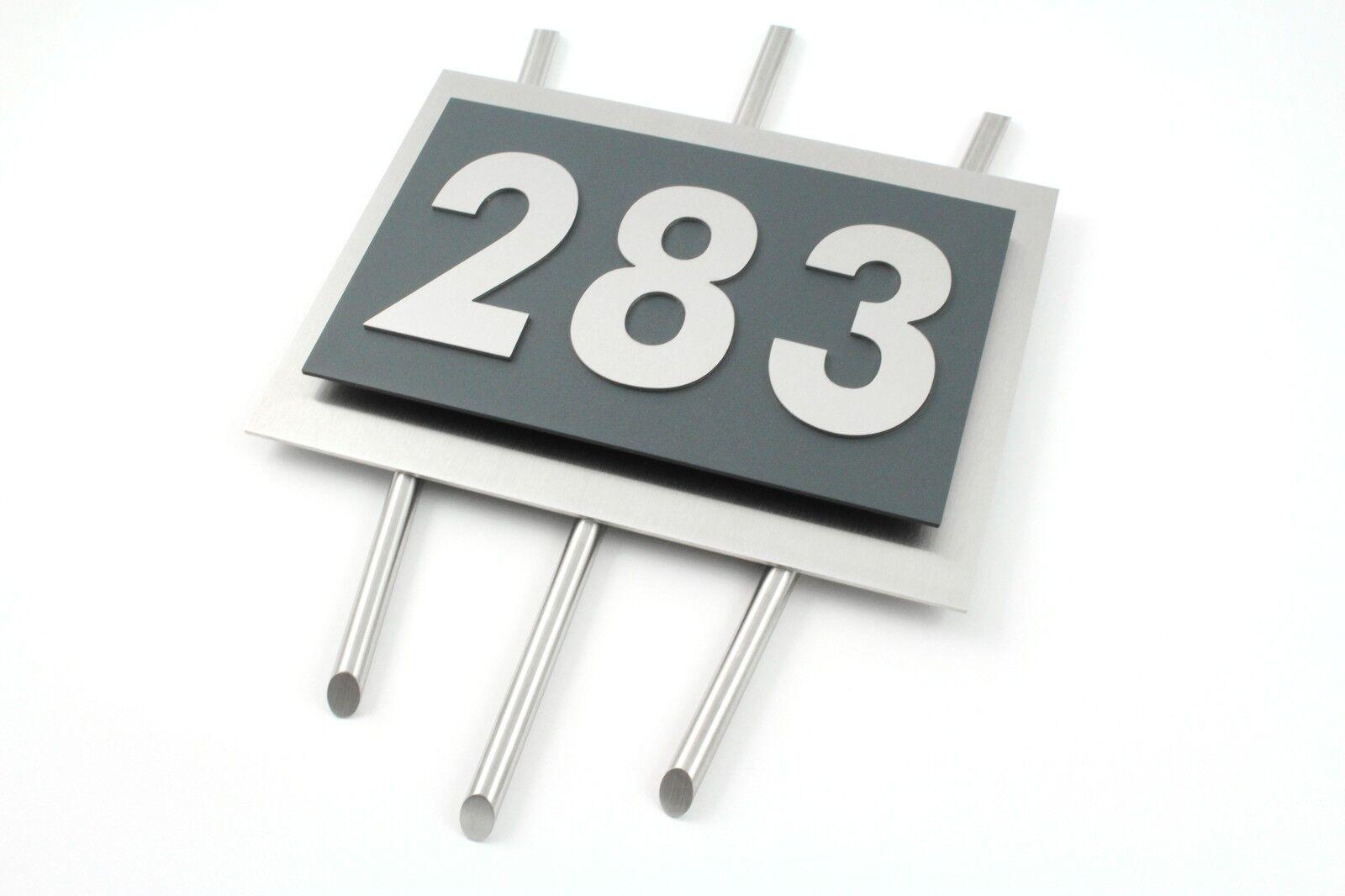 Hausnummer Hausnummer Hausnummer Edelstahl Anthrazit Ral 7016 Exklusives Design Verona 0-9 a-h A-H | Am praktischsten  | Genial Und Praktisch  | Viele Sorten  84c8d4