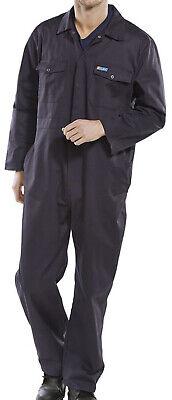 Click 65//35 Polycotton Hooded Boilersuit Royal Blue Pcbshcar