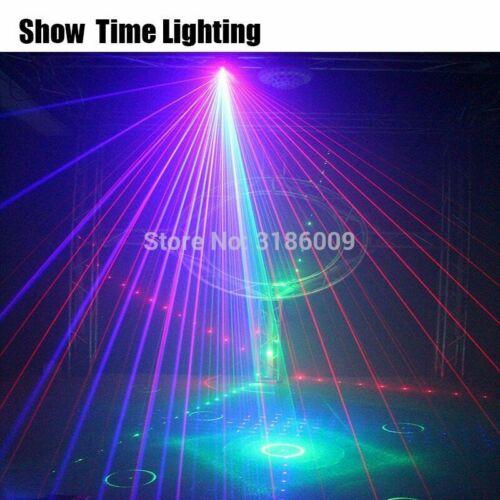 NEW 6 Lens Scan Laser Light Line Beam Scans DMX DJ Dance Bar Coffee Xmas Home