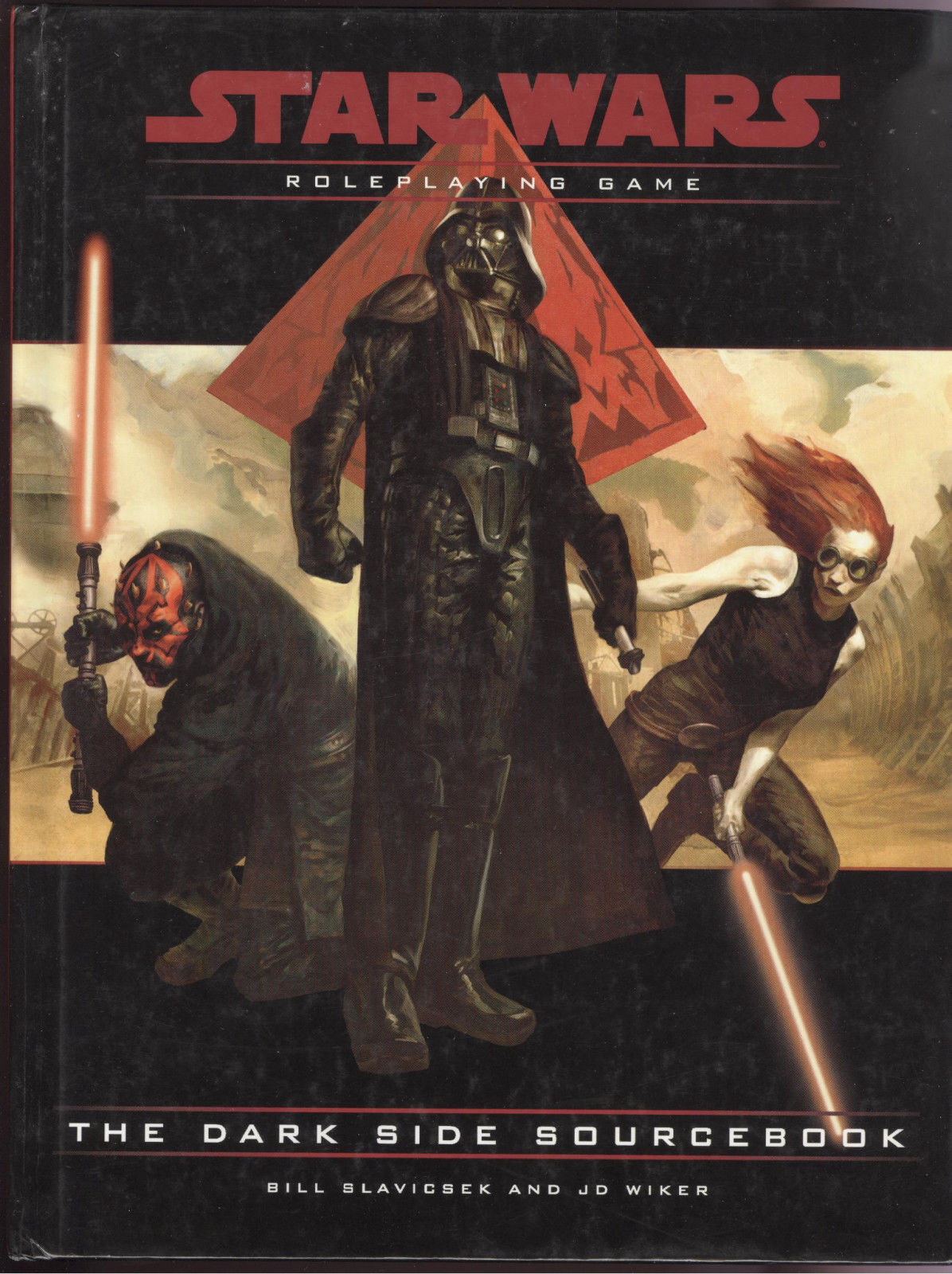 Star Wars RPG The Dark Side Sourcebook Bill Slavicsek JD Wiker SIGNED