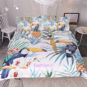 Toucan Bird Single/Double/Queen/King Size Bed Quilt/Doona/Duvet Cover Set