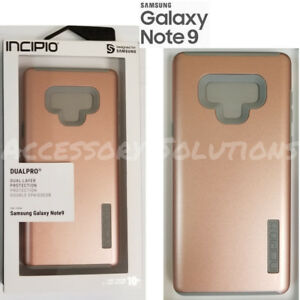 premium selection a650c 85ea8 Details about Incipio DualPro Samsung Galaxy Note 9 Shockproof Case  Iridescent Rose Gold/ Gray