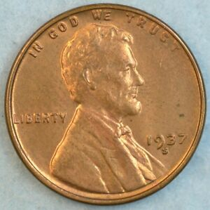 1937-S-Lincoln-Wheat-Cent-San-Francisco-Mint-UNCIRCULATED-UNC-FAST-S-amp-H-34045