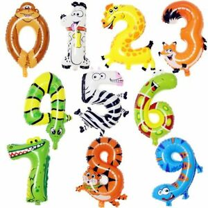 Numero-di-animali-Palloncini-con-stagnola-Digit-Helium-Ballons-Party-Decor