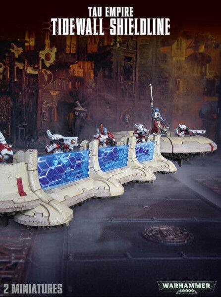 Warhammer 40K  TAU  Empire Tidewtutti Shieldline 56-51  negozio di sconto