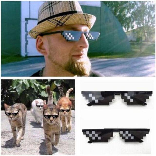 Thug Life Glasses 8 Bit Pixel Deal With IT Sunglasses Unisex Sunglasses Decor PL