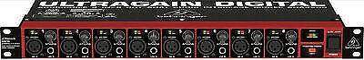 behringer ultragain digital ada8200 8 in 8 out adat audio interface with midas for sale online. Black Bedroom Furniture Sets. Home Design Ideas