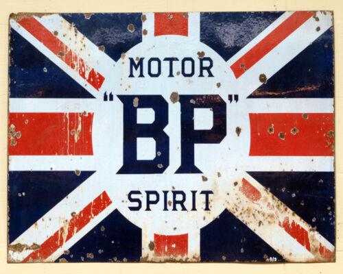 Motor BP Spirit Garage Image On ENAMEL TYPE METAL TIN SIGN WALL PLAQUE