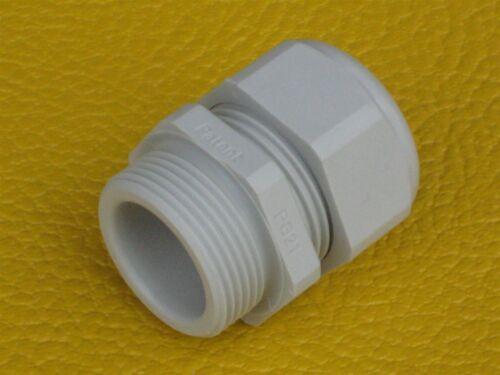 Vpe Grundpreis 0,29€//Stk. 100 Stück Kabelverschraubung PG11 Polyamid lichtgra
