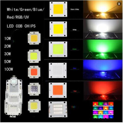 10W 20W 30W 50W 100W LED Chips Bulb SMD COB RGB UV White for Flood Light DIY