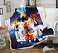 Anime Dragon Ball 3D Sofa Travel Flannel Scotland Fleece Bedspread Blanket