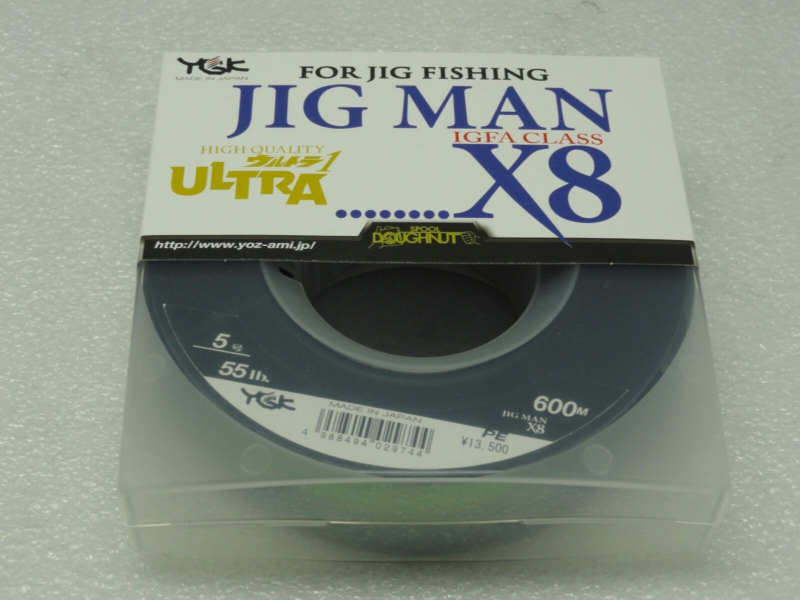 YGK JIG MAN IGFA CLASS X8 8 Braided PE PE PE 5 line SPECTRA  5 55lb 600m Made in Japan 976c7c
