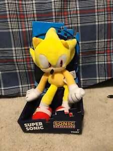 Tomy Sonic The Hedgehog 12 Yellow Super Sonic Plush Figure Authentic New Ebay