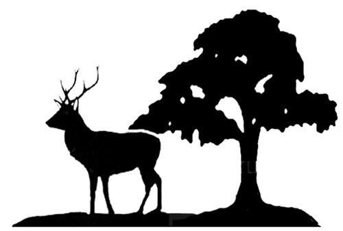 Large Stag Deer /& Tree Weathervane or Sign Profile 550mm x 390mm Laser cut
