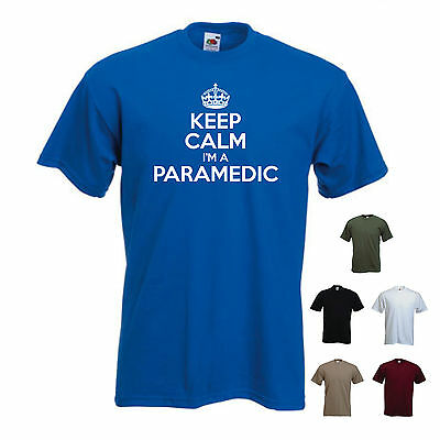 'Keep Calm I'm a Paramedic' Ambulance Funny Gift T-shirt Tee