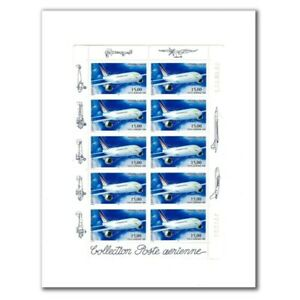 PA N°_63 AIRBUS A300-B4 LUXE feuille COLLECTOR 10 timbres f63a