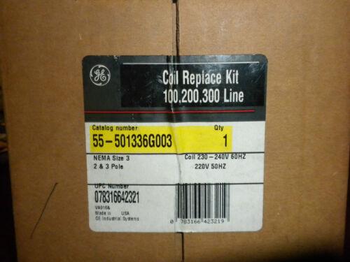 GE 55-501336G02003 240 VOLTCOIL REPLACE KIT 100 200 300 LINE NEMA SIZE 3 STARTER