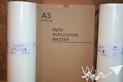 2 Genuine Riso Brand S-132 Master Rolls 76W 3750 Duplicator Risograph GR 3710