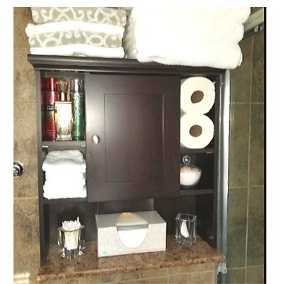 Bathroom Medicine Cabinet Wall Mount 3 Adjustable Shelves Over The Toilet Rustic 638563070026 Ebay