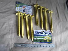 (8) New Speed Cinch Rope Stakes 9  Cord Line Made in USA tents & Speed Cinch Stake Spike 9