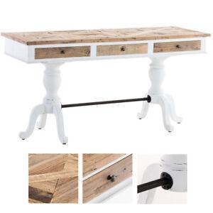 Holz Bürotisch Colin Landhausstil Shabby Chic Schreibtisch