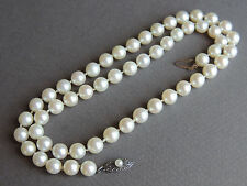 VINTAGE MIKIMOTO STERLING SILVER CLASP 6.5 mm PEARL NECKLACE