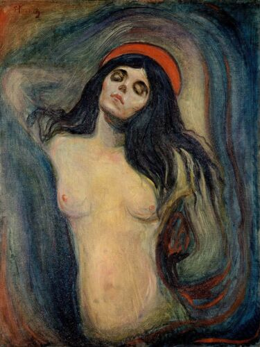 Painting Edvard Munch Madonna Picture Canvas Art Print