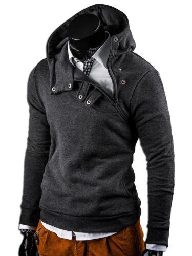 G.B.D Hoodie cuello alto sudaderas style suéter negro//gris//azul Nuevo